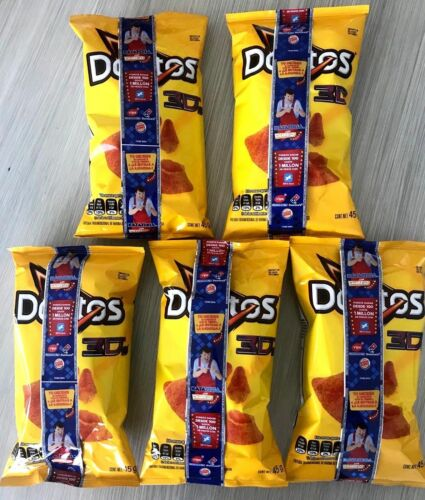 Doritos 3D queso Mexican chips Sabritas 5 BAGS, 45g, EXP.DATE FEB 2021