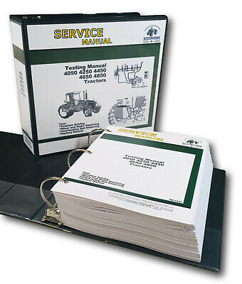 Testing Service Manual For John Deere 4050 4250 4450 4650 4850 Tractor Repair
