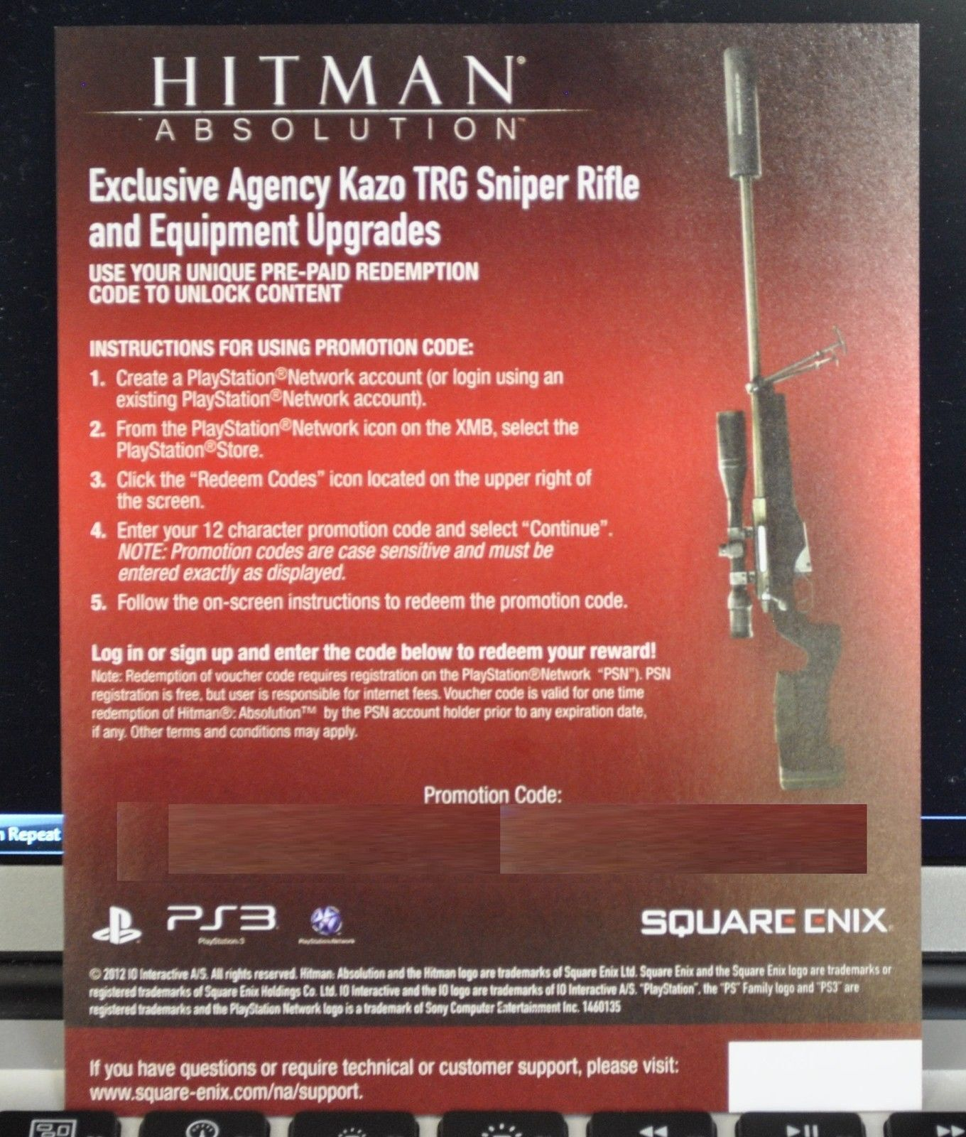 Details about Hitman: Absolution - Agency Kazo TRG Sniper Rifle & Equipment  DLC Pack [PS3] NEW