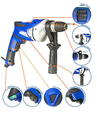 New Hyundai 710w Corded Electric 230V Impact Drill, DIY, Power Tool