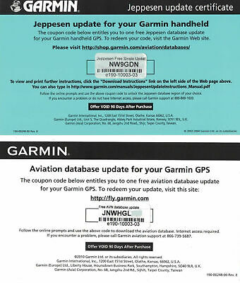 Jeppesen Database Update Certificate for Garmin GPSMAP 196 296 396 495 496 696