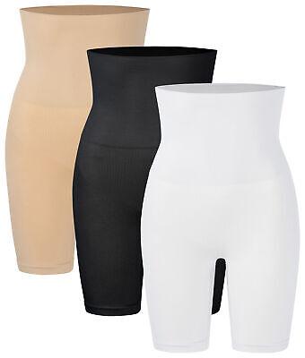 1 - 3 Damen Shapewear Miederpants hoch Miederhose bauchweg Unterwäsche