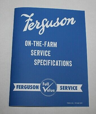 Ferguson To-35 F-40 Service Shop Manual Gray Green 1954 1955 Etc. Massey
