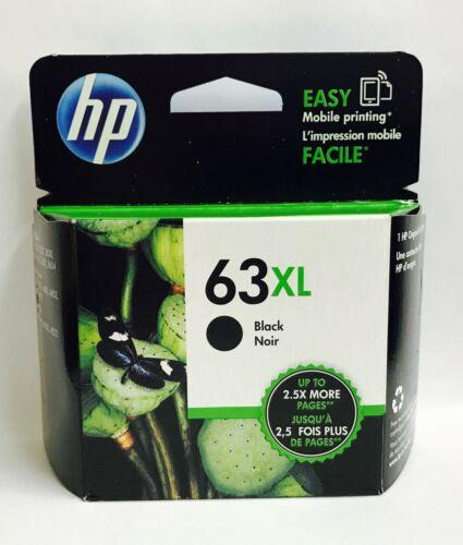 New Genuine HP 63XL Black Ink Cartridge, Deskjet 1112, Deskjet 3631