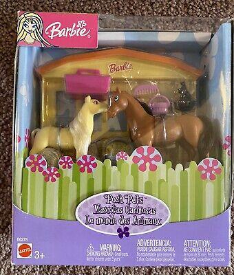 Rare Vintage Barbie Posh Pets Mini Horses Stable Set New