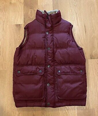 Abercrombie & Fitch Sherpa Lined Puffer Vest Burgandy McFly Mens Size XL