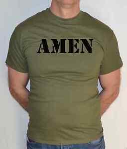 Amen-Gesu-Christian-God-Religion-divertente-T-SHIRT