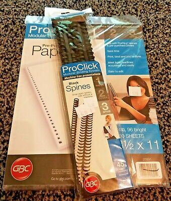 Pro Click Modular Binding System Pre-punched Paper And Spine