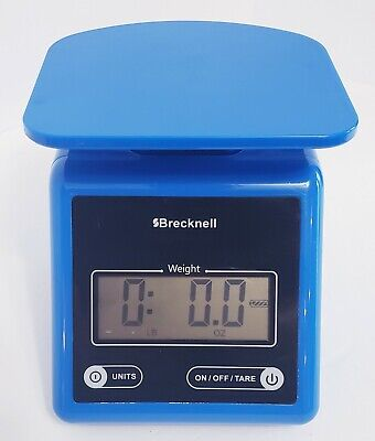 Brecknell Electronic Postal Scale 7 Lbs Capacity Platform Blue Ps7 Used