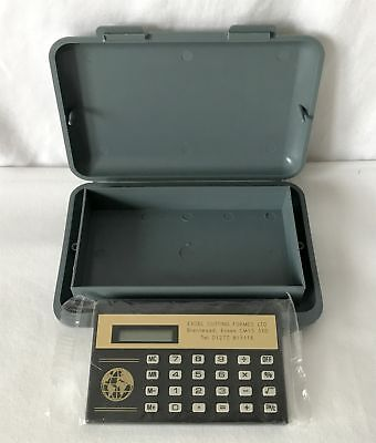 Vintage Plastic Box Containing A Sealed Unopened Promotional Calculator
