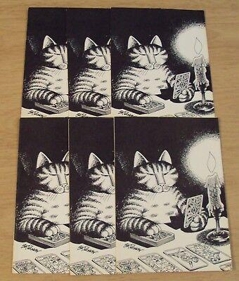 "VTG 1979 Lot of Six ARTIST B. Kliban ""CAT CARDS""~Workman Publishing"