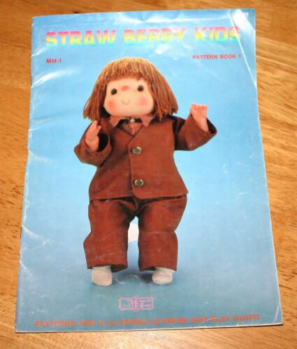 Miniature House STRAWBERRY KIDS - DOLL CLOTHES SEWING PATTERN BOOK 1 - Boy Dolls