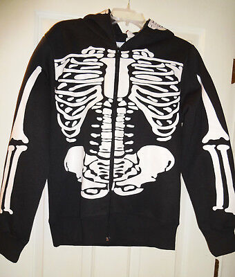 Charades Halloween Costume Adult Women's Skeleton Hoodie with Skull Face Mask