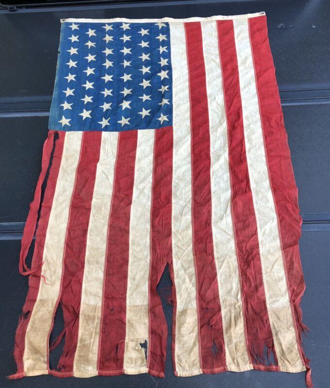 ORIGINAL US 46 star flag 1908-1912