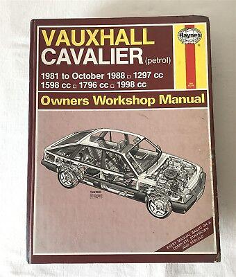 Vauxhall Cavalier Petrol Engine 1981-88 Haynes 812 Owners Workshop Manual 1989