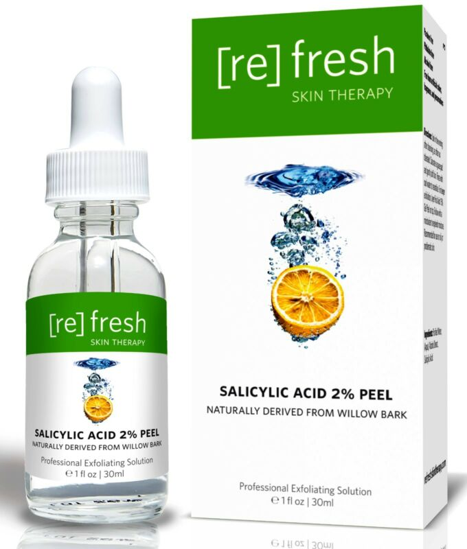 Refresh Skin Therapy Peel Salicylic Acid 2% Gentle Daily Professional BHA Acne