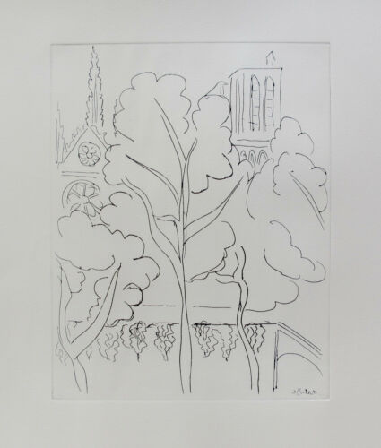 Henri Matisse NOTRE DAME Restrike Etching Signed in the Plate