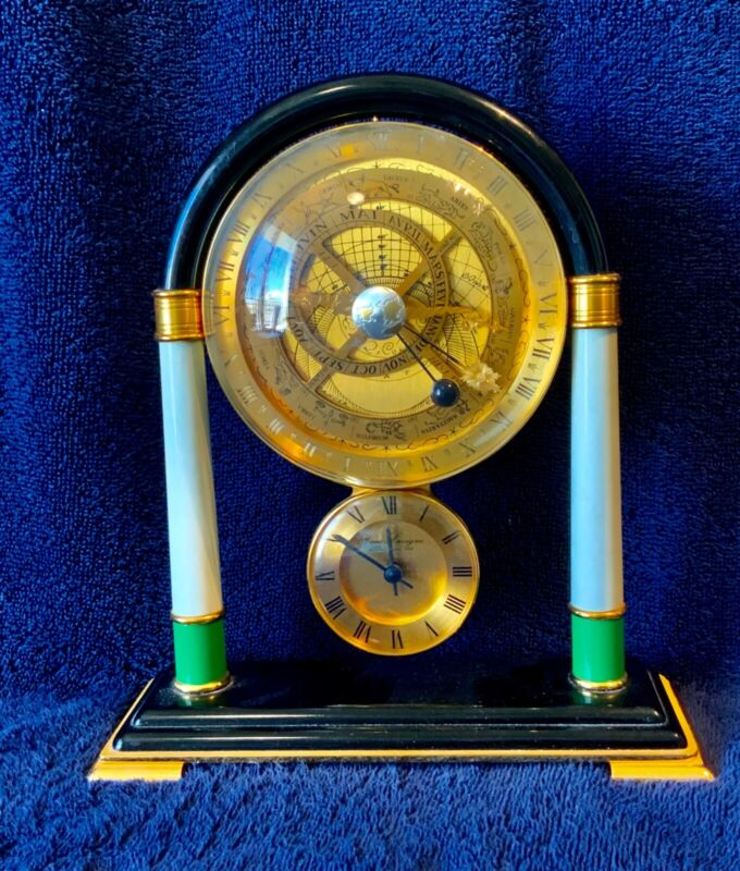 Hours Lavigne Astrolabe Table Clock Paris