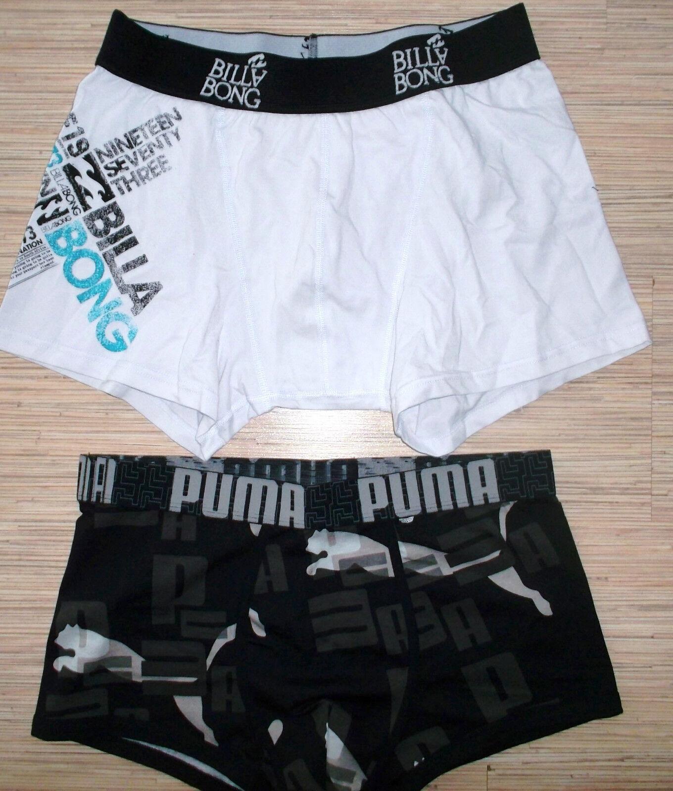 Neu BILLABONG+PUMA Boxershorts Unterhose Trunks Gr.L NEU