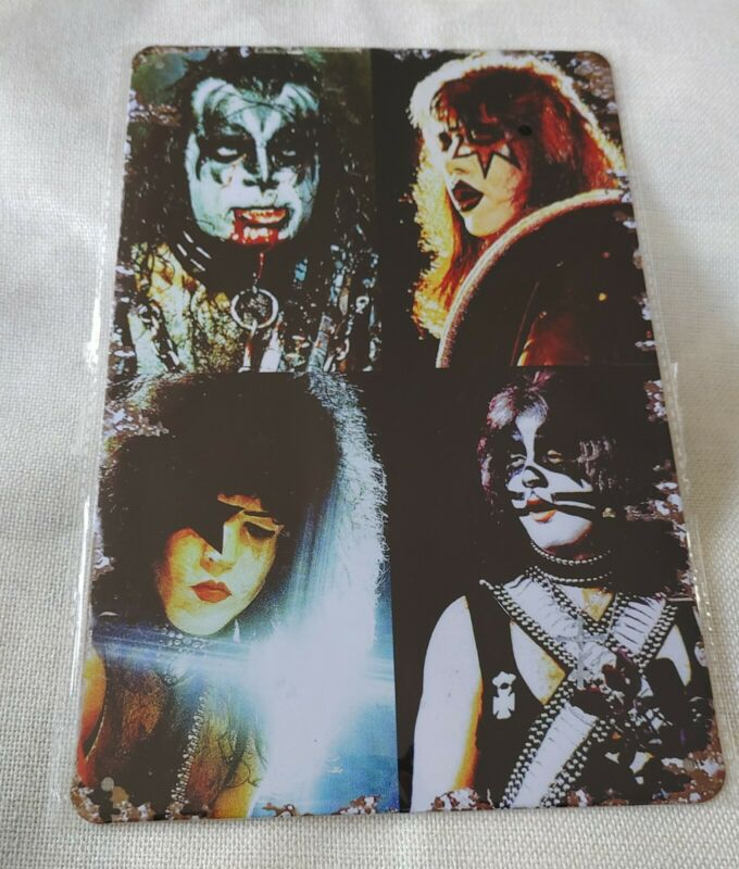 Kiss Rock Band Poster Style Wall Sign New & Metal