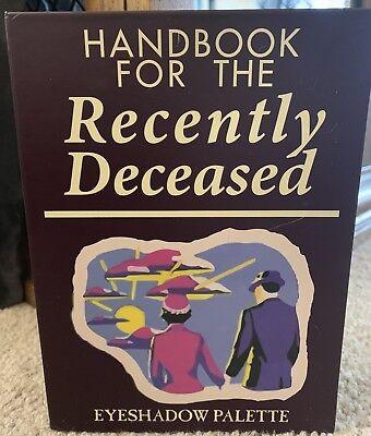 """Beetlejuice's """"Handbook For The Recently Deceased"""" Eyeshadow Palette (read list)"""