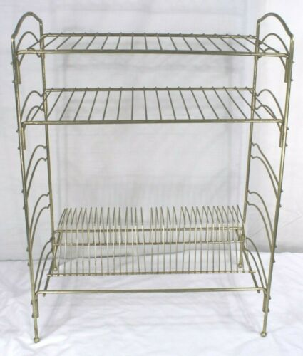 Vintage Wire Record Rack 3-Tier - Holds 45s + Two Shelves - Easy Breakdown