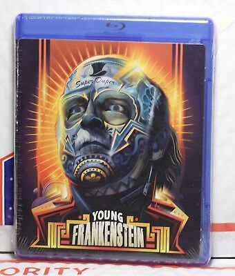 NEW YOUNG FRANKENSTEIN BLU-RAY! W-HALLOWEEN FACEPLATE ART CARD! WALMART! SEALED