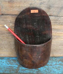 holzbox antik utensilienbox handy stiftek cher wandbox stiftehalter holz b ro ebay. Black Bedroom Furniture Sets. Home Design Ideas