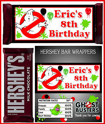 GHOSTBUSTERS GHOST BUSTERS PARTY FAVORS CANDY BAR HERSHEY BAR - Ghostbusters Candy