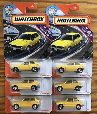 MATCHBOX 2020 MBX HIGHWAY, '76 HONDA CVCC. Lot of 6