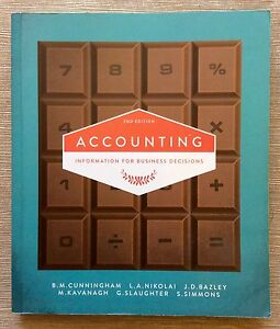 ACCOUNTING: INFORMATION FOR BUSINESS DECISIONS PAPERBACK TEXTBOOK Arundel Gold Coast City Preview