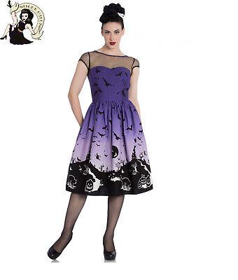 HELL BUNNY HAUNT DRESS 50s party BAT witch PUMPKIN halloween