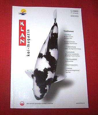 Klan Koi Magazin 2003 Nr  1 , 11. Jahrgang , Internationales Nishikigoi Magazin