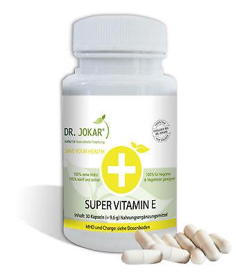 Super Vitamin E Kapseln - hochdosiert, natürlich, vegan, für gesunde Haut Haar