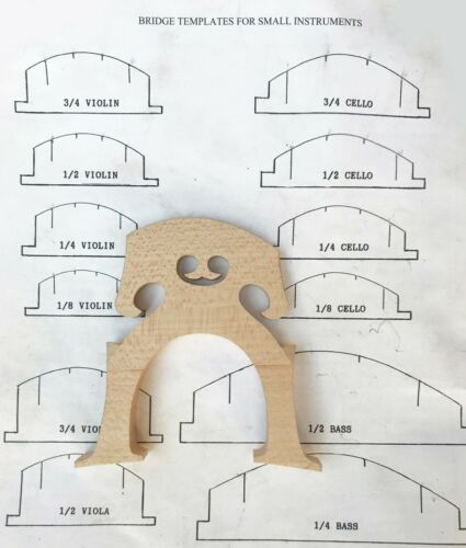 Pre-fitted with a generic cut 4/4 Size Cello Bridge Free US Shipping Maple Wood
