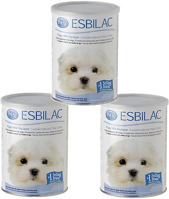 3 Pack Pet Ag Esbilac Powder Puppy Milk Replacer And Dog Food Supplement - 12