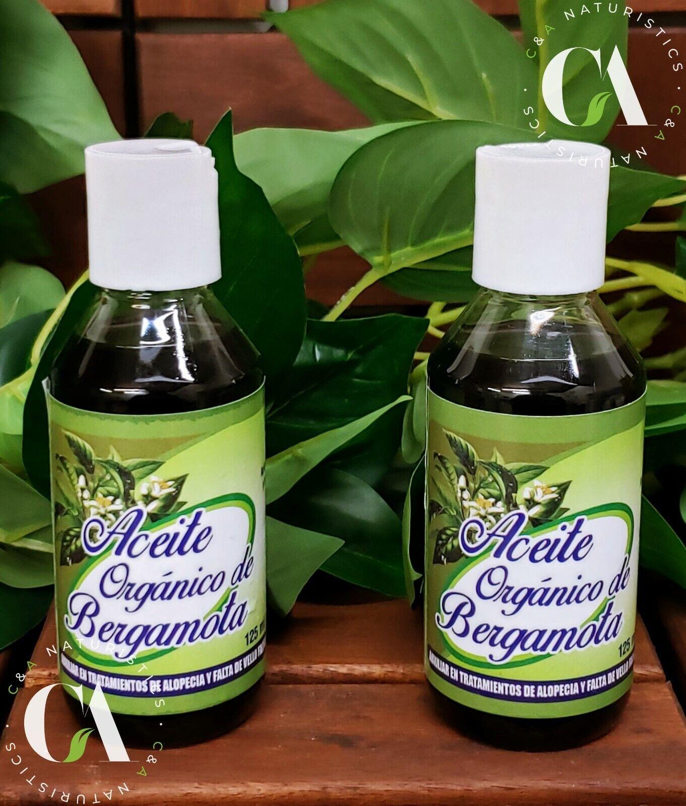 Aceite Orgánico de Bergamota 100% Original & Concentrado (2Pack 125ml Each)