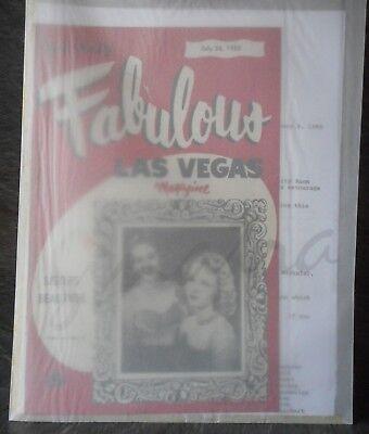 Frank Sinatra Las Vegas Magazine 1952 + Arrival Notes 1988 - facsimile copies