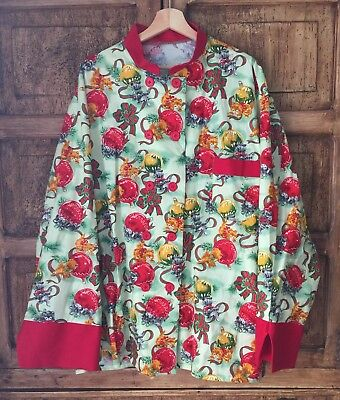 Christmas Cat theme oversize Pajama type Robe ()