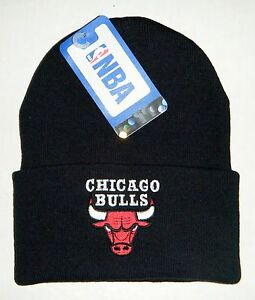 9b6bd51c90b Chicago Bulls Authentic Cuffed Beanie   Toque Knit hat New with tags