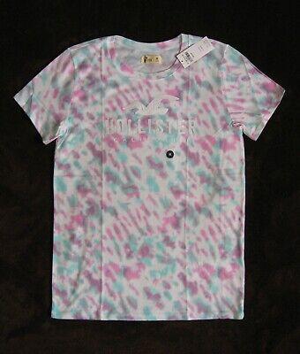 NWT Women's Shirt HOLLISTER Abercrombie Logo Tie Dye Crew T-Shirt S, M, L