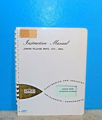 Fluke 801b Differential Voltmeter Instruction Manual Oem 1962 Free Ship