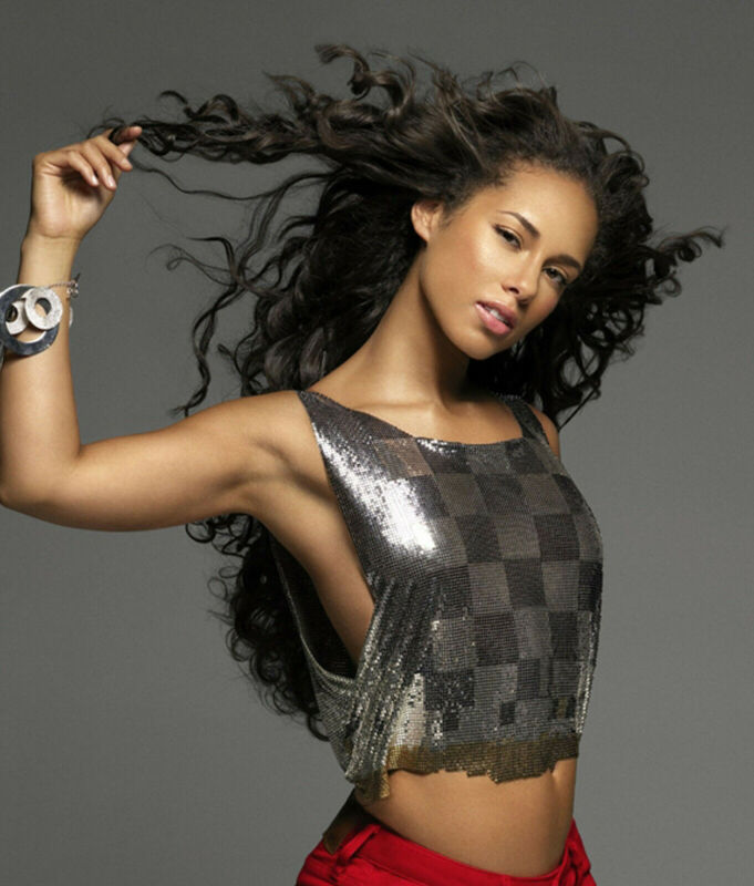 ALICIA KEYS 8X10 GLOSSY PHOTO PICTURE IMAGE #3