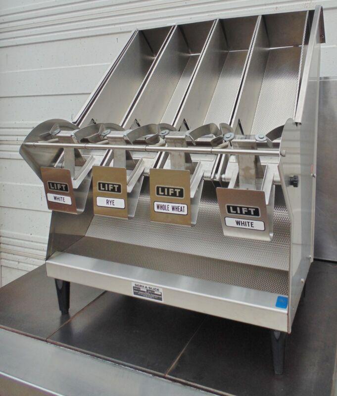 Bread Slice Dispenser SERV-A-SLICE FR4 Restaurant Bread Dispenser 4 Compartment
