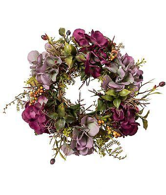 Sommer Herbst Kranz Türkranz Hortensie lila  künstlich Ø 20cm Kunstblumen deko