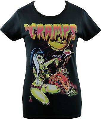 LADIES T-SHIRT JOHNNY ACE THE CRAMPS ZOMBIE FRANKENSTEIN PUMPKIN HORROR PSYCHO - Psycho Pumpkin