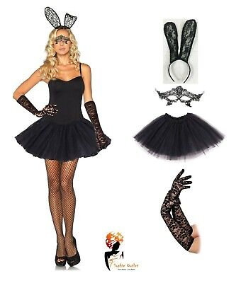 SEXY EASTER BUNNY TUTU COSTUME Adult Ladies Rabbit Fancy Dress Cosplay Lot