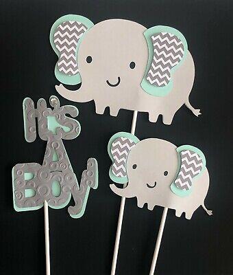 Elephant mint/ Elephant baby shower/ Elephant theme/ elephant gray and - Baby Shower Decorations Elephant Theme