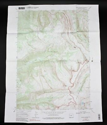 VTG 1968 Mount Bannon Wyoming USGS Topographical Map TOPO WY 7.5 Minute