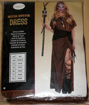 Damen Voodoo-Hexendoktor Kleid Gr. M/L Halloween Kostüm Karneval Fasching
